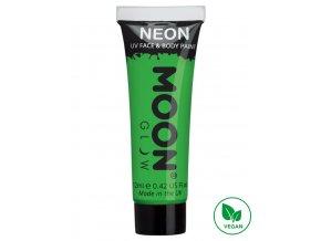 UV NEON barva na tělo a obličej Zelená