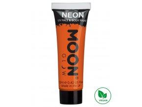 UV NEON barva na tělo a obličej Oranžová