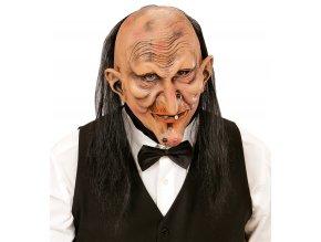 Maska skřet/čarodějnice s vlasy