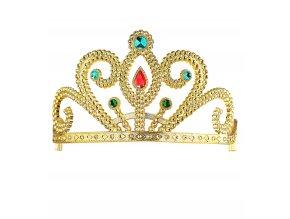 Zlatá korunka s drahokamy