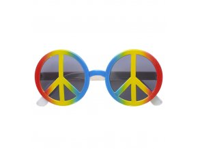 Barevné hippies brýle