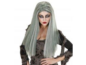 Dámská paruka Zombie šedo-zelená