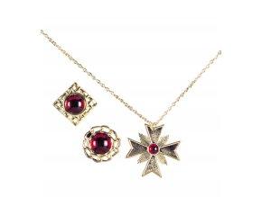 Sada Drákula (náhrdelník a prsteny)