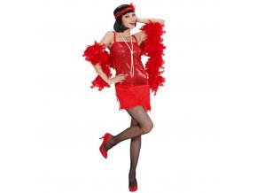 Dámský kostým 20.léta červený