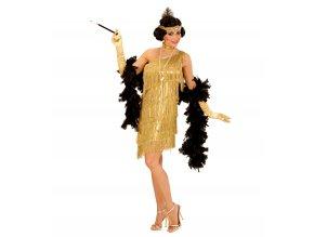 Dámský kostým Flapper zlatý