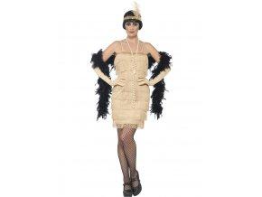 Dámský kostým 30.léta zlatý