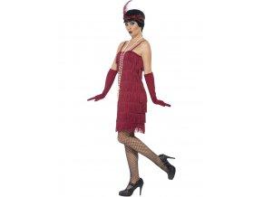 Dámský kostým 30.léta vínový