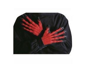 Červené rukavice Čert