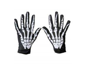 Látkové rukavice kostlivec