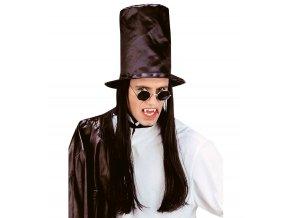 Vysoký klobouk pro upíra (s vlasy)