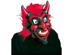 Maska Pohádkový čert červený