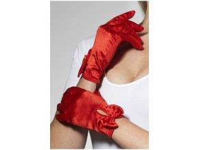 Elegantní rukavičky s mašlí červené