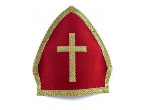 Mikulášská čepice červená