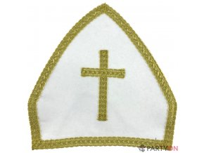 Mikulášská čepice bílá