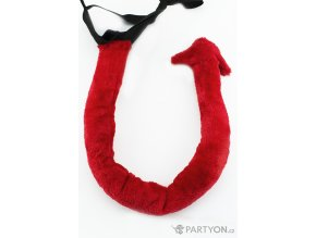 Čertovský ocas červený (plyšový)