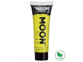 UV NEON barva na tělo a obličej Žlutá