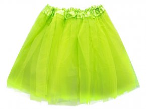 Tylová tutu sukně zelená 40cm