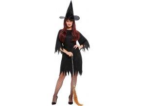 Dámský kostým černá čarodějnice