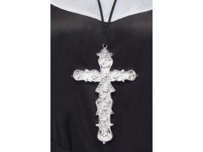 Kříž stříbrný zdobený 15 cm