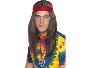 Hippies sada s parukou pro muže