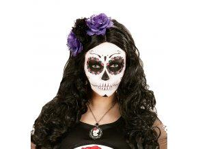 Čelenka s fialovými růžemi Sugar Skull