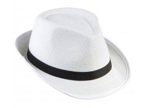 Bílý fedora klobouk Mafián