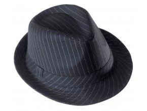 Mafiánský klobouk fedora s proužky