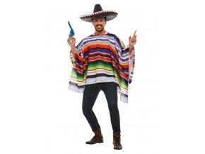 Mexické pončo barevné