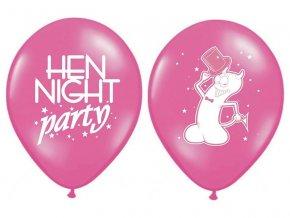 Balónek Rozlučka se svobodou, růžový, 30 cm