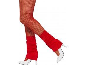 Disco návleky na kotníky červené
