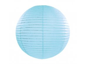Lampion modrý, 20cm