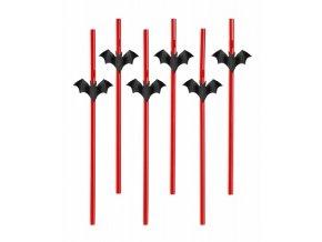 Halloween brčka s netopýry (6ks)