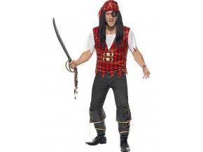 Pánská sada Pirát (top, šátek a záslepka)