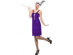 Dámský kostým Flapper fialový