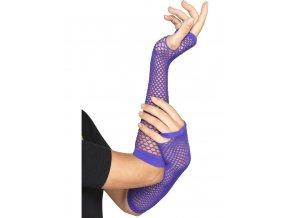 Krajkové rukavice bez prstů fialové