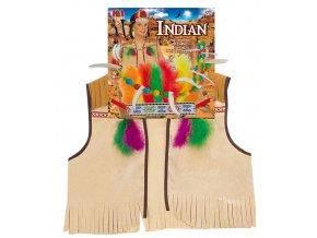 Dětská indiánská vesta s doplňky