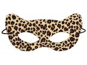 Kočičí maska Leopard