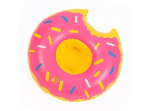 Držák nápojů do bazénu Donut růžový