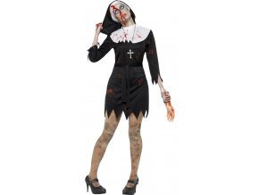 Halloween kostým zombie Jeptiška