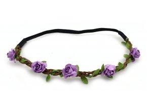 Květinová čelenka světle fialová