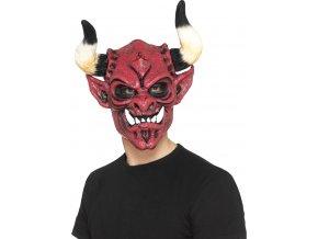 Maska čerta s rohy