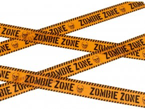 Halloween páska Zombie zóna 6m