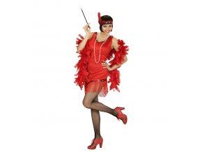 Dámský kostým 30.léta červený