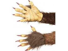 Čertovské ruce rukavice hnědé