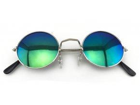 Hippie brýle lenonky zelenomodré