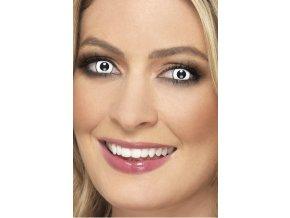 Barevné kontaktní bílé čočky Zombie
