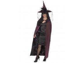 Čarodějnický plášť fialový deluxe