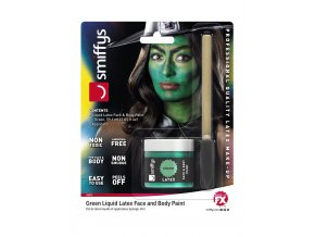 Zelený tekutý latex make-up