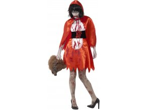 Dámský kostým Zombie Červená Karkulka