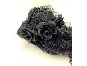 Čelenka s černým závojem